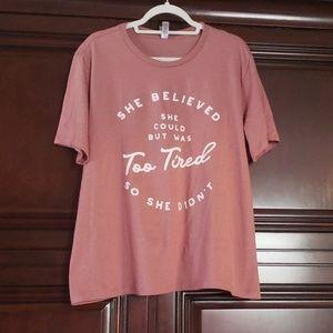 Thread Tank Crew 2XL NWT Heather Rouge T-Shirt